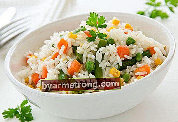 Guarnire la ricetta del riso