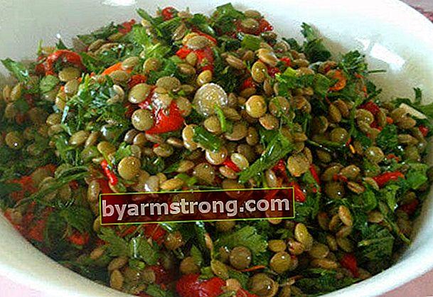 Resep salad lentil hijau