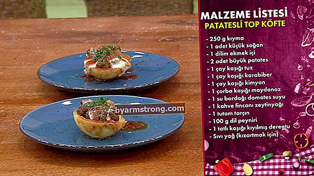 Ricetta e ingredienti per polpette di patate | Preparazione di polpette di patate