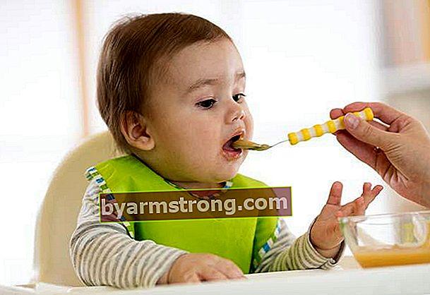Carta pemakanan untuk bayi berusia 6 bulan