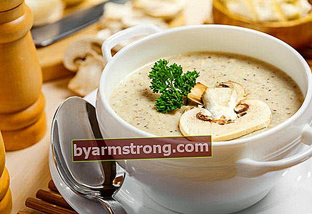 크림 버섯 수프 레시피